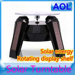 Wholesale Display Cabinet Solar Rotating Display Stand Rotary Auto Turn Table Plate Showcase For Mobile watch Accessories Jewelry