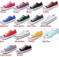 Wholesale Fashion Unisex Women Men Sneakers Lace Up High Low Style Classic Casual Canvas Shoes Colors All Size