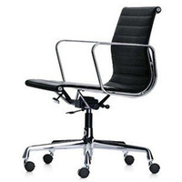 Wholesale Eames Aluminum Lounge Chair Office Furniture With Lift and Swivel Hote Sale Black Color