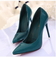 Wholesale HOT Woman s Nightclub sexy paint bright skin pointed High heels Single shoesuAQ21