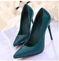 Wholesale HOT Woman s Nightclub sexy paint bright skin pointed High heels Single shoesuAQ21