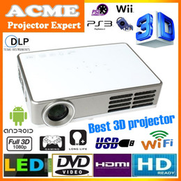 Wholesale Built in android wifi full HD p mini LED DLP active shutter D projector convert D to D proyector