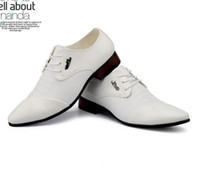 Shiny Groom Wedding Shoes Cool Men's Prom Shoes Leather Casual Shoe DY
