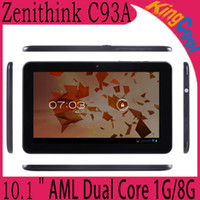 Wholesale Original Zenithink C93A tablet quot Tablet PC Android4 Capacitive Screen Dual Core Cortex A9 G RAM G ROM