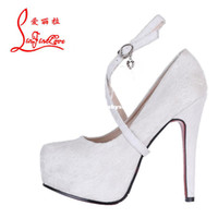 Wholesale White Lace and cm Bridal High Heels Shoes Wedding Bridesmaid Shoes Party Shoes