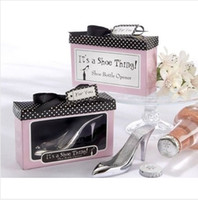 Wholesale EMS Free High Heel Shoe Bottle Openers Wine set wedding favor and gifts quot it is a shoe thing quot K08028
