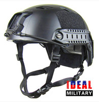 Half Face base jump helmet - Tactical Airsoft BASE JUMP Helmet Carbon Shell Fast GY top sale