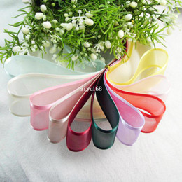 Wholesale New Fashion cm Wide Embroider Double Snow Yarn Ribbon Silk Polyester Ribbon Transparent DIY Coloured Ribbons Bowknot Decor