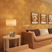 Wholesale High Quality Vintage Classic Non Woven Glitter Modern Wallpaper Wall Paper Roll For Living Room Bedroom TV Background