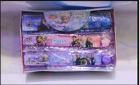 Wholesale Children Students Cartoon Frozen Princess Elsa Anna Hans Kristoff Sven Olaf Ruler Kid Ice Snow Queen Folding ruler Stationery Frozen ruler