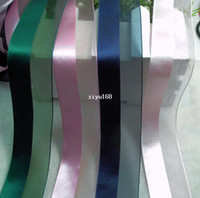 Wholesale Wedding Present Decoration cm Wide Satin Silk Ribbons Double Fabric Design Colors DIY Accessories m