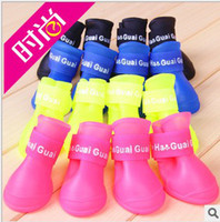 Wholesale 2014new hot cakes Pet shoes non slip Pet rain rainboots Fashion cute dog shoes