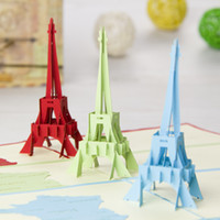 pop up greeting card - La Tour Eiffel Tower Handmade Creative Kirigami Origami D Pop UP Greeting Gift Cards