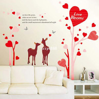 Wholesale 1 set cm Love Blooms Wall Sticker Love Quote Art Decor Vinyl Wall Decals Stickers Home Decor for Bedroom
