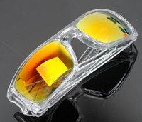 yellow frame sunglasses - New Frame Sunglasses Transparent frame Yellow rainbow Bicycle Cycling Eyewear Glasses Sport UV Sunglasses Lens