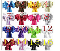Cheap Multi Color Hot sale High Quality Wedding Satin Ribbon Chair Cover Sashes and Party Banquet Decor Bow