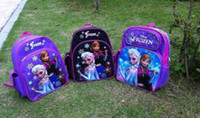Wholesale Preorder Will In Stock On May nd New Children Girls Bags Frozen Elsa Anna Olaf Pattern Design Nylon Oxford Kids Bag Childs Knapsack G0383
