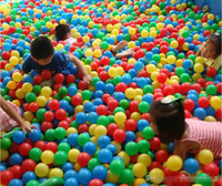 Wholesale 200pieces Colorful Ball Fun Ball Soft Plastic Ocean Ball Baby Kid Toy Swim Pit Toy cm