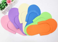 foam pedicure slippers - HOT Disposable Slipper EVA Foam Salon Spa Slipper Disposable Pedicure thong Slippers Beauty Slippers