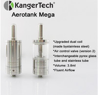 authentic brand products - 2014 New Brand Products Kanger Aerotank Mega Pyrex Glass Dual Coils Clearomizer Big Vapor ml Aerotank Mega Atomizer Kangertech Authentic
