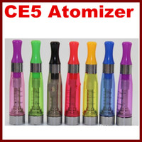 8 colors CE5 Atomizer eGo Clearomizer 1. 6ml no wick CE5 vapo...
