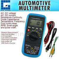 ac duty cycle - E04 Automotive Multimeter AC DC Voltage Current Resistance Continuity Diode Capacitance Temperature Frequency Duty Cycle Tester