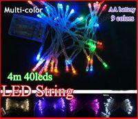 Hot sale 4 meters 40 LED String MINI FAIRY LIGHTS 3XAA Batte...