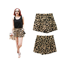 Wholesale S5Q Sexy Leopard Print Girls Women s Cool Casual Middle Waist Shorts Hot Pants AAADFY