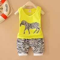 Cheap Boy baby rompers Best Summer Sleeveless clothing set