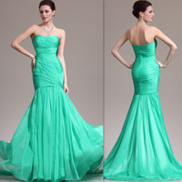 Cheap Reference Images Green Evening Gowns Best Trumpet/Mermaid Strapless mermaid Evening gowns