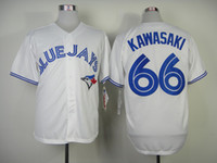 Wholesale Blue Jays Munenori Kawasaki Home Jersey New Style Authentic Toronto Baseball Jerseys with Red Maple Leaf Cheap Stitched Jerseys