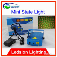 Wholesale Mini Red amp Green Moving Party Laser Stage Light amp sound active strobe function light Twinkle V Hz No IR or UV light