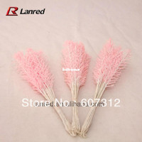 Decorative Flowers & Wreaths,Other cedar - 144pcs Pink Hot sale Cedar with glitter decoration with wire stem