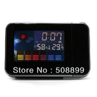 Digital Alarm Clocks  LED Light LCD Projection Digital Weather Thermometer Alarm Clock Snooze Station