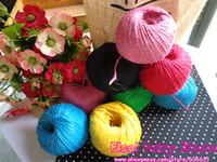 Wholesale Colorful Hemp Rope y Y Jute pet tie Colorful Jute rope hang tag rope DIY jute cord