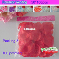 Wholesale Packing flower red rose petal in wedding or party popper party accessory