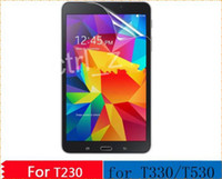 Wholesale New Clear Screen Protector Guard Film For Samsung GALAXY Tab T230 T231 tab t330 tab t530 without retail