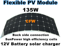 Wholesale W flexible solar panel with back Side Connection M cable V battery system solar charger