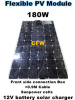 126-200 W 12v solar battery charger - Promotion W flexible solar panel with front Side Connection M cable V battery system solar charger