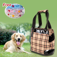 Wholesale Ondoing H310119 Fashion Plaid Print Pet Carriers Dog Carriers Pet Supplies Puppy Dog Cat Bags Carrier One Shoulder Easy Carry Bag Carrier