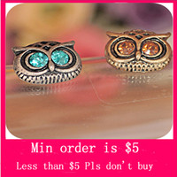 Wholesale Min Order Mix Jewelry order NEW Vintage Style Jewellery Fashion womans OWL Earrings E0007
