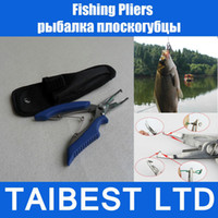 Wholesale Lure Fishing Pliers Fish Hook Remover Line Cutter With Nylon Bag