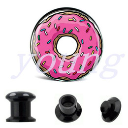 Wholesale acrylic black ear plug tunnels ear gauges for ears earrings piercings body jewelry mixing sizes mm AE