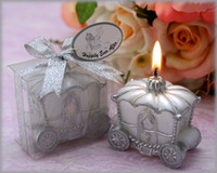 Wholesale EMS Free The Pumpkin Carriage Style Wedding Candle Favor Wedding Decoration Party Ceremony Supplies K08042