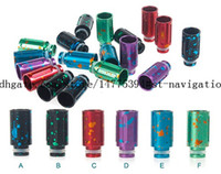 Wholesale HOT selling drip tip e cig splash aluminum wide bore drip tip for ecigs RDA Vape Mod e cigarette
