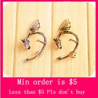 Wholesale Min Order Mix Jewelry order New Gothic Punk Temptation Metal Dragon Bite Ear Cuff Wrap Earring E0107