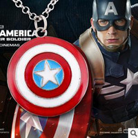 Wholesale Captain America Shield Pendant Necklace New Arrival B15