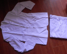 Wholesale In Stock Day Dispatch White Groom Tuxedos Clothes Pants