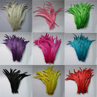 Wholesale inches cm Multi Colors Dyeing Rooster Tail Feathers For Your Crafts