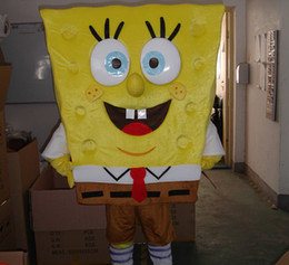Wholesale Cartoon Mascot Costume from Sponge Bob Anime Character Antimated Doll Garment Charming Walking Dress
